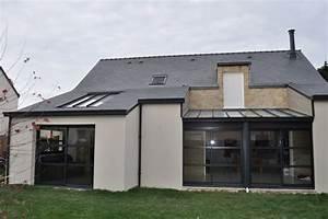 toit en verre maison 5 extensions toits plats argo235t With toit en verre maison