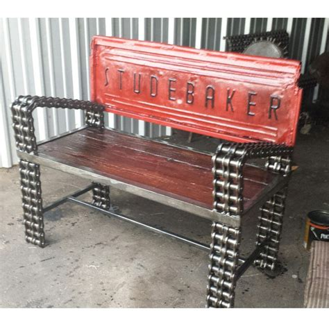 truck tailgate bench studebaker truck tailgate bench by recycledsalvage on