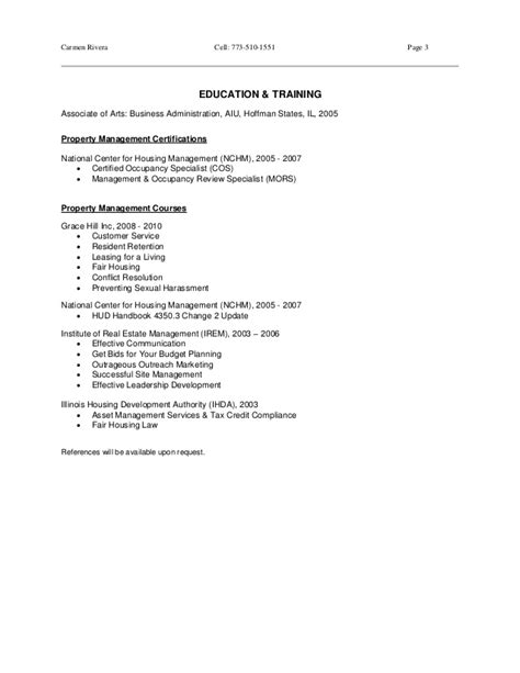residential property manager resume property manager resume rivera 2015