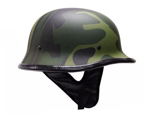 Flat German Army Camo Motorcycle Cruiser Half Helmet ~l