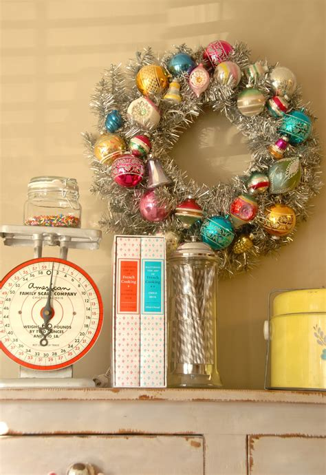 diy vintage christmas blue eyed yonder diy vintage ornament wreath vintage event rentals atlanta georgia
