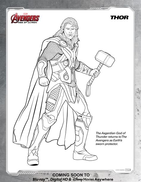 coloring pages of avengers endgame avengers thor coloring page disney movies