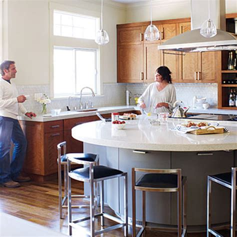 look a semi circular kitchen island the kitchn