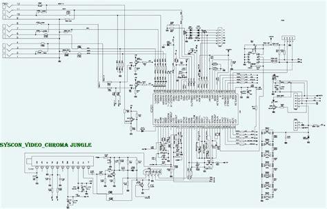 tcl crt tv schematic circuit diagram electro