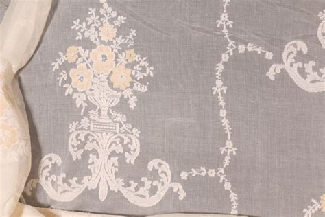 Lace Drapery Fabric by Cotton Linen Lace Drapery Fabric In Light Caramel