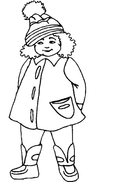 Coloring Clothes by Winter Clothes Coloring Pages Coloring Home