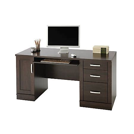 Computer Desk For Office Use by Sauder Office Port Credenza Alder Office Depot
