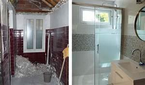 Rénovation Salle De Bain Avant Après : avant apr s r novation d une petite salle de bain en ~ Dallasstarsshop.com Idées de Décoration