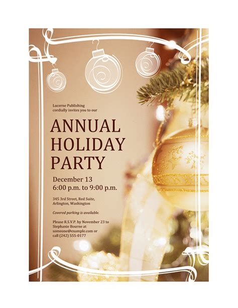 download free printable invitations of holiday party invitation for business event