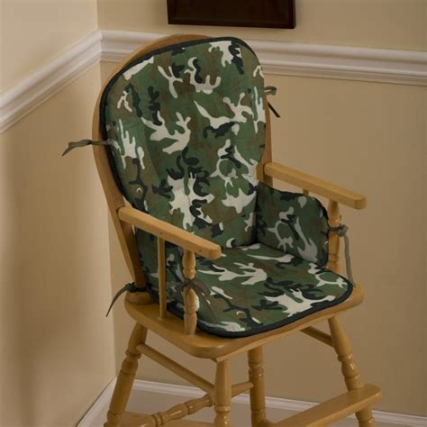 green camo high chair pad traditional high chairs and