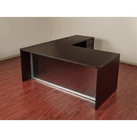 l shaped desk accessories osp napa l shaped desk with glass modesty panel