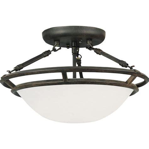 maxim lighting stratus 3 light bronze semi flush mount