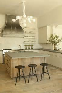 white kitchen wood island reclaimed wood kitchen island with concrete countertop transitional kitchen