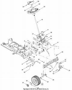 Troy Bilt 13ap609g063 Ltx1842  2003  Parts Diagram For Axle  Front  Steering Assembly  Wheels  Front