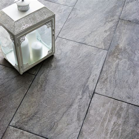 grey tiles bq indus grey effect porcelain wall floor tile