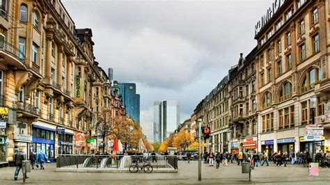 city  busy street  frankfurt germany wallpaper