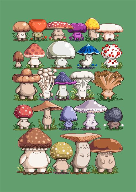 cartoon mushroom ideas  pinterest   draw