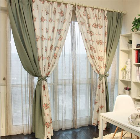Country Style Living Room Curtains by Free Shipping Linen Country Style Ikea Style Curtains For