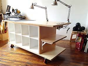 kitchen island casters kallax workstation ikea hackers ikea hackers