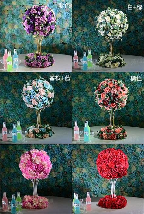 flower kissing balls wedding centerpieces  sale