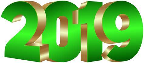 2019 Green Gold Png Clip Art