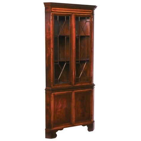 mahogany corner cabinet mahogany inlaid corner cabinet 3949