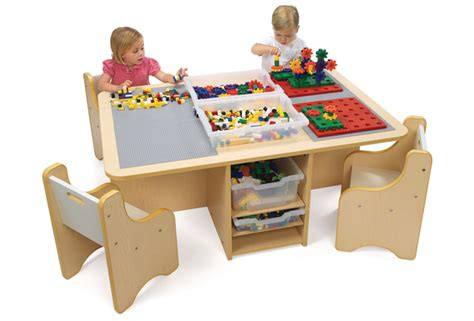 lego table with storage 161 | Picture Large Quad Activity Table with Storage(2)