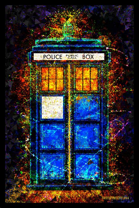 doctor who l doctor who beautiful digital tardis poster mightymega
