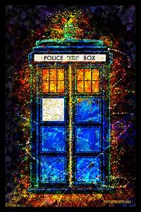 doctor who beautiful digital tardis poster mightymega