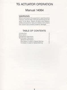 woodward tg actuator manual  images manual
