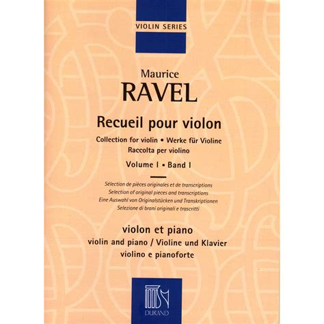 Collection For Violin And Piano, Volume 1