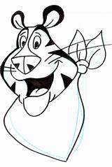 Tiger Outline Drawing Tony Face Coloring Characters Clip Clipart Interesting Many Tigger Cliparts Fictional Kunst Performing Fantasy Disney Arts Background sketch template