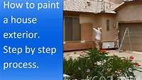 how to paint house exterior How to paint exterior of a stucco house. - YouTube