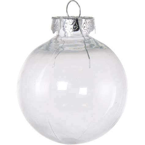 80mm budget clear plastic ornaments box of 4 co15 101