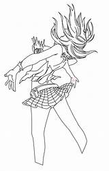 Lucy Pages Coloring Bikini Heartfilia Anime Fairy Tail Render Natsu Template sketch template