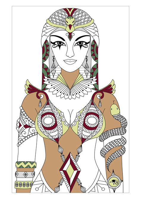 egypt hieroglyphs coloring pages  adults