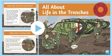 * New * Ks1 All About Life In The Trenches Powerpoint  World World One