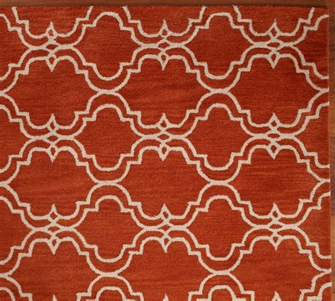 sale brand new pottery barn sale brand new pottery barn scroll tile orange area rug 5x8 rugs carpets
