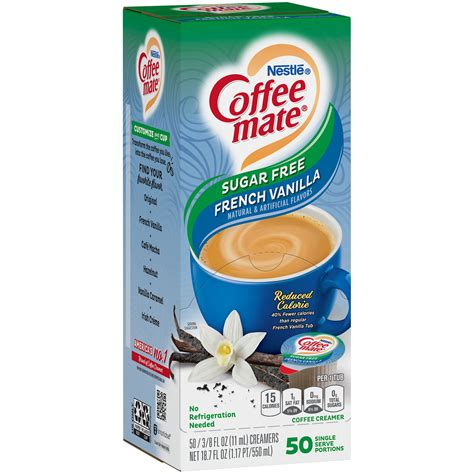 Good taste and great creamer without added sugar.5i can't tell it's sugar free.this is delicious. Nestle Coffee-Mate Sugar Free French Vanilla Liquid Coffee Creamer Singles - Shop Coffee Creamer ...