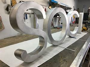 Channel letter signs illuminated or non illuminated for Channel letter fabrication