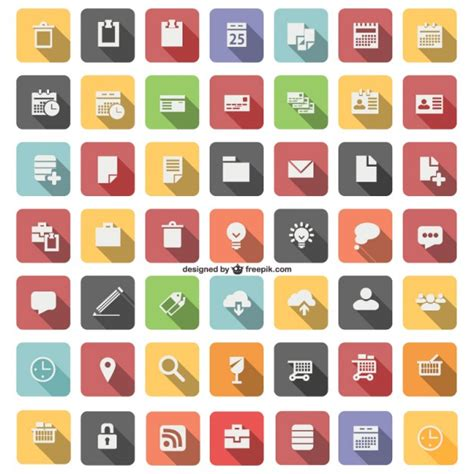 flat icon set vector free