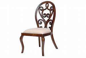 Royale, Side, Chair, Distressed, Mahogany, On, Onekingslane, Com