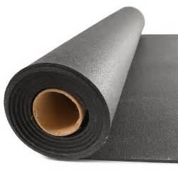 Rubber Flooring Rolls 1/4 Inch Black Geneva