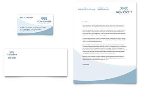 community  profit business card letterhead template