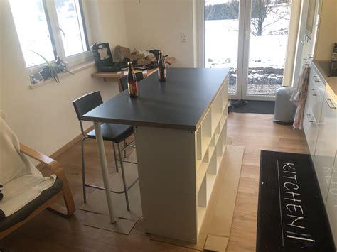 Ikea Kücheninsel Aufbau by K 252 Cheninsel Diy Mit Ikea Produkten Basement Apartment In
