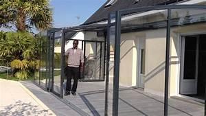 Abri De Terrasse Coulissant : ouverture abri de terrasse lg design youtube ~ Dode.kayakingforconservation.com Idées de Décoration