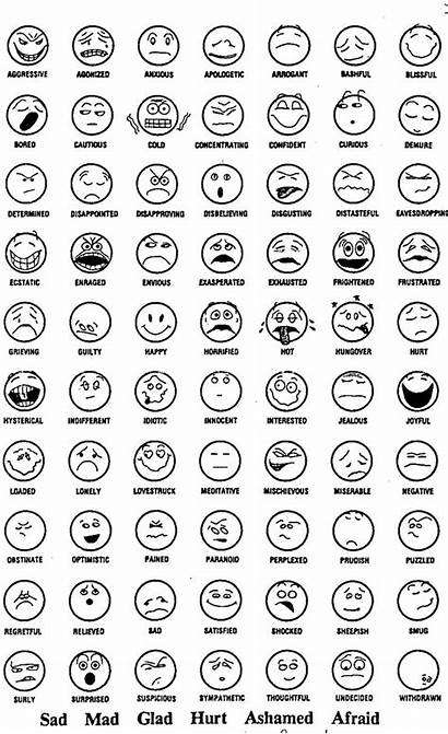 Faces Emotional Coloring Pages Emotions Emotion Feelings