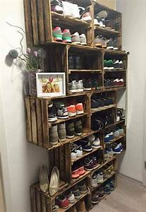 10 shoe storage ideas to keep you sane for What kind of paint to use on kitchen cabinets for how to make bottle cap wall art