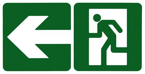 SignsExit0004 - Free Background Texture - sign exit emergency