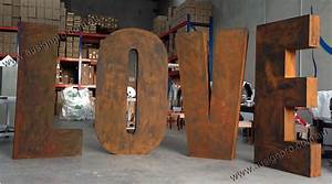 big love sign with rust finish big impact for your With giant letter signs